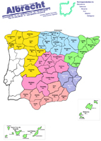 Karte Postleitzahlen Spanien Deutschland